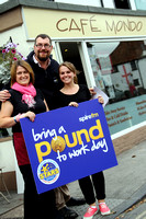 bring a pound to work day spire fm