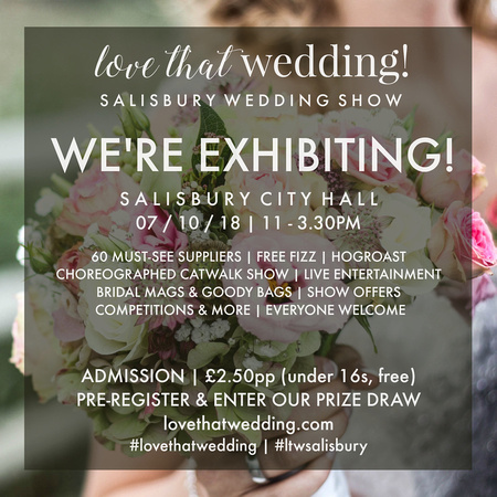 Salisbury Wedding Photographer Simon Ward is exhibiting at theLove That Wedding Show on Sunday 7th October 2018
