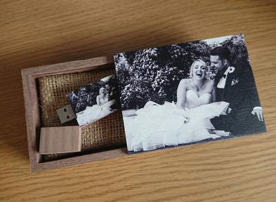 Individually designed UK-made wedding USB Folios by Salisbury-based Simon Ward Photography
