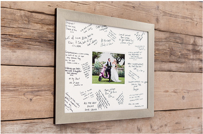 Keepsake Wedding Signing Frame from Salisbury Wedding Photographer Simon Ward Photography.