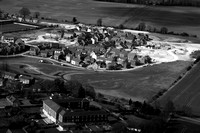 Part of the new Old Sarum housing development. (B&W)